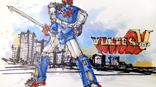 Cartoon Series:  Voltes V Time Lapse Drawing