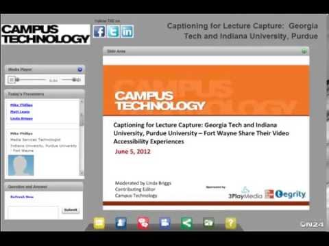 Closed Captioning with Lecture Capture: Georgia Tech and IPFW Case Studies