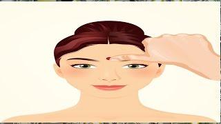 Veja  o que acontece quando você massageia este ponto na testa é Incrível