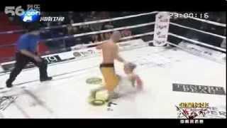 Шаолинь монах KO VS world Taekwondo champion