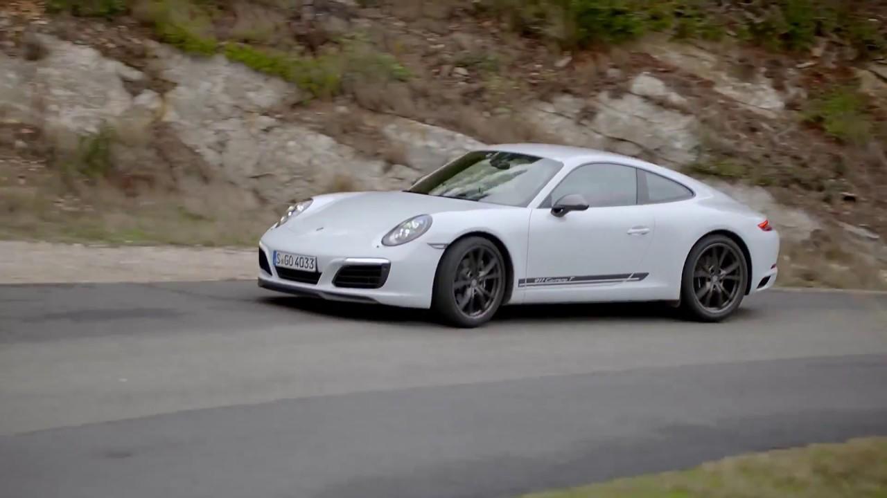 porsche 911 carrera t in white driving event. Black Bedroom Furniture Sets. Home Design Ideas
