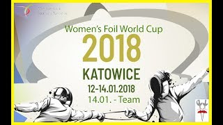 2018 Women's Foil Team World Cup Katowice Piste Yellow