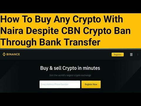 How To Buy Any Crypto With Naira Despite CBN Crypto Merchant Ban Through Bank Transfer.