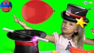 Фокусы с Фиксиками и Ярославой. Симка и Нолик – Фокус с Воздушными Шариками. Видео для детей