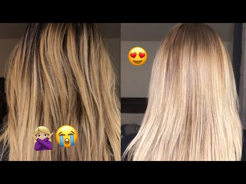 How To Tone A Blonde Balayage With Wella T14 YouTube