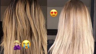 How to tone a blonde balayage with Wella T14