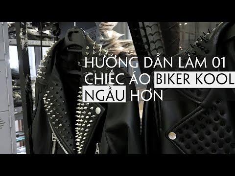 DIY - Hướng Dẫn Đóng 300 Chiếc Đinh Lên Áo Khoác Biker - How To Making A Cooler Biker