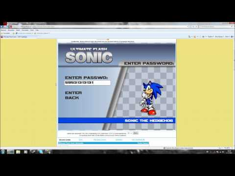 Ultimate Flash Sonic Cheat Code GET AMY AND SHADOW