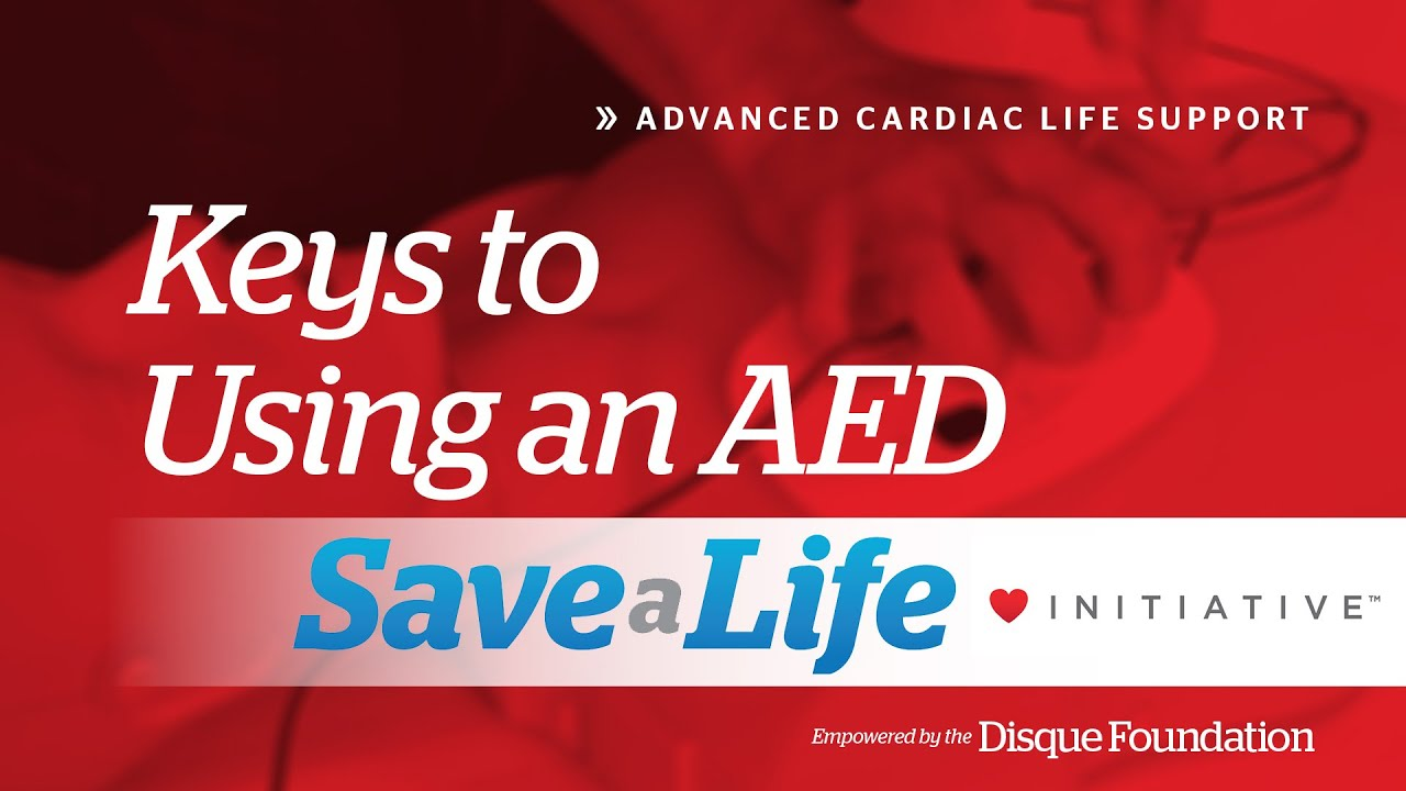Key To Using An Automated External Defibrillator Aed Acls Handbook