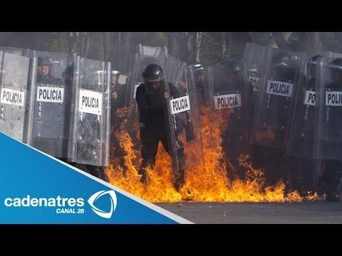 Habitantes de Huehuetoca incendian Palacio Municipal tras la muerte de un menor