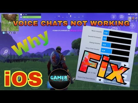 Fix VOICE CHAT NOT WORKING ON iPhone Why? (Fortnite Mobile ...