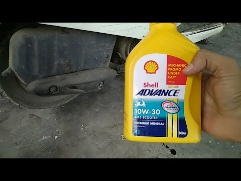 Engine Oil Change Of Honda Activa | Any Two Wheeler Scooter