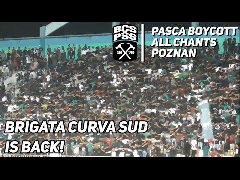 BRIGATA CURVA SUD CHANTS (EXTENDED) AFTER BOYCOTT (PSS 2-0 BORNEO FC) | PIALA PRESIDEN 2019