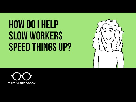 How do I help slow workers speed things up?