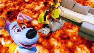 ПОЛ ЭТО ЛАВА ЧЕЛЛЕНДЖ Игра /The Floor is Lava Challenge Pretend Play with Funny Toy
