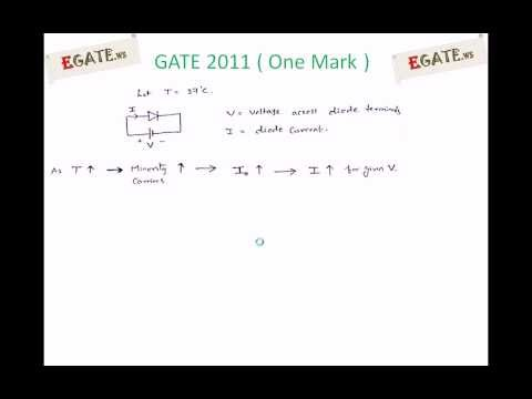 Problem on effect of Temperature on Diode - GATE 2011 Solved paper (Electron Devices)