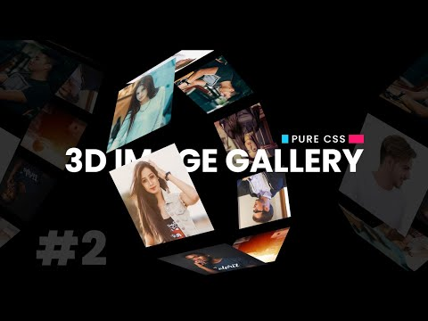 CSS 3D Image Gallery Using Html & CSS Only