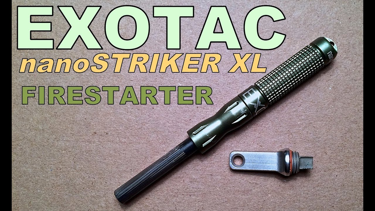 Firesteel Survival Fire Steel Starter Kit Flint Striker EXOTAC nanoSTRIKER XL