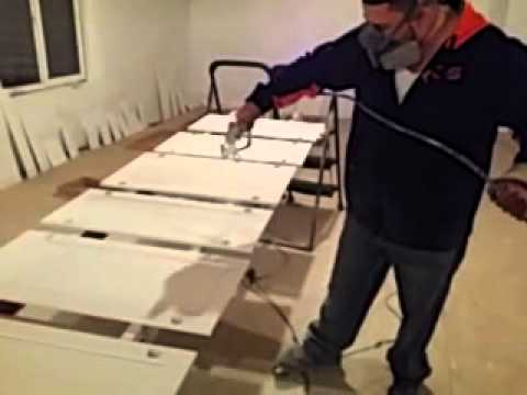 Spraying kitchen cabinets with a airless for Airless paint sprayer for kitchen cabinets