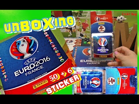 PANINI UEFA EURO 2016 FRANCE new OFFICIAL STICKER ALBUM EM Frankreich 50 + 6 UNBOXING Aufkleber No 1