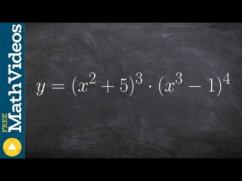 Taking the derivative of two binomials using product and chain rule