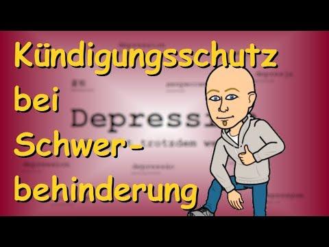 Depression Kündigungsschutz Bei Schwerbehinderung Youtube