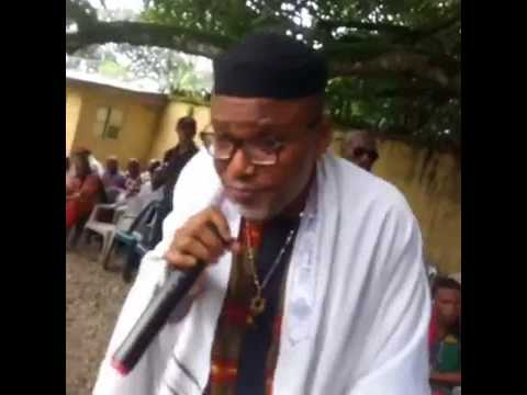 BIAFRA : KANU ADDRESS TOM POLO,ASARI DOKUBO AND OTHER IJAW YOUTHS IN HIS PALACE.