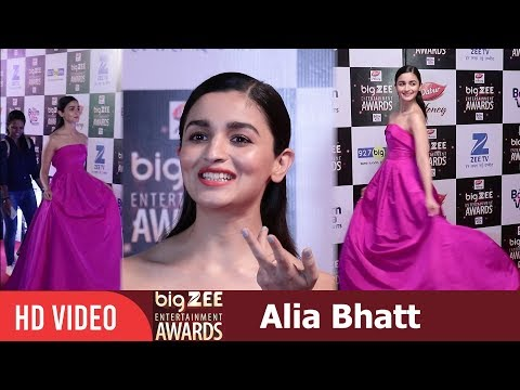 Alia Bhatt at Big Zee Entertainment Awards