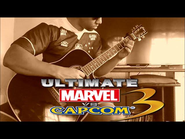 Ultimate Marvel VS Capcom 3-Main menu Theme on acoustic