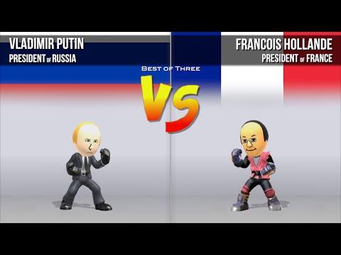 #4 Putin Vs Hollande - Mii Fighter Tournament: G8 World Leaders Edition 2016
