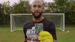 Tim Howard demonstrates his Match Attax Super Skills