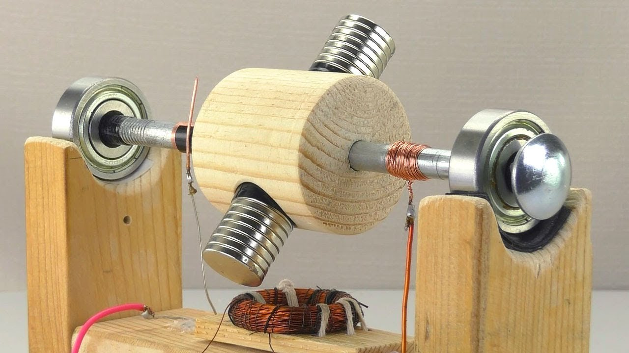 Simple Motor And Magnetic Transmission Youtube