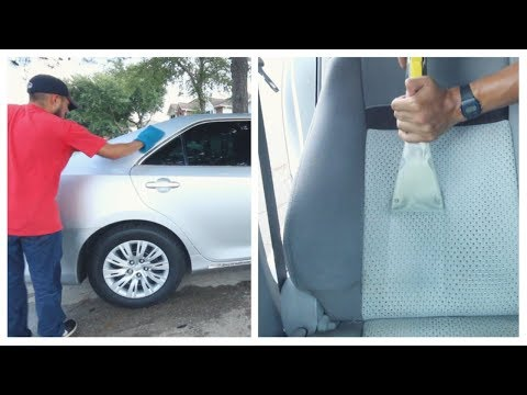 Interior Car Shampoo and Express Wax in 2 Hours on Toyota Camry