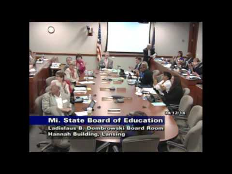 Michigan State Board of Education Meeting for August 12, 2014 - Morning Session Mp3