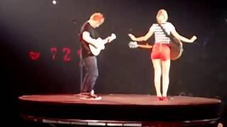 "Taylor Swift & Ed Sheeran ""Everything Has Changed"" San Diego August 15 2013"