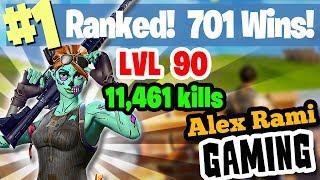 #1 World Ranked - 701 Wins - 11,461 Kills  - Level 90 - Sponsor Goal 314/350