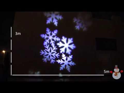 LED Christmas snowflake projector