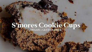 S'mores Cookie Cups // vegan + gluten-free