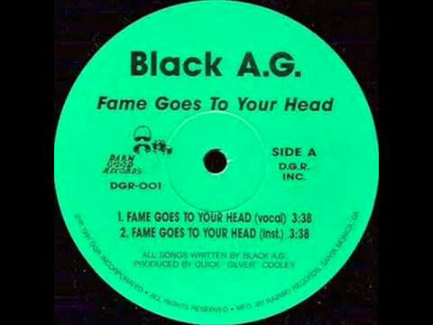 BLACK A.G. - FAME GOES TO YOUR HEAD ( rare 1991 IL rap )