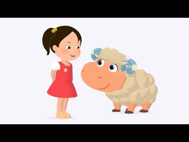 Мяу-Мяу — У Мэри был барашек   Mary Had a Little Lamb — Английский для детей