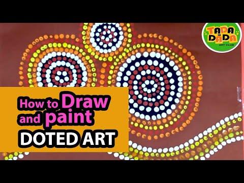 How to draw and paint ABORIGINAL ART | STEP BY STEP | Australian folk art | TADA-DADA Art Club