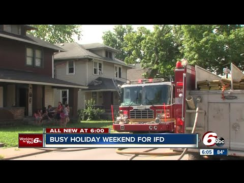 Busy holiday weekend for the Indianapolis Fire Department