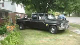 85 Chevy C30 Dually 454 Open Headers and Burnout