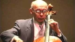 Janos Starker performs Bach Suite in G Major