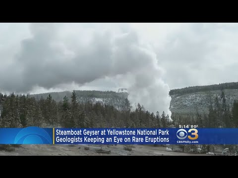 Geologists Keeping Eye On Rare Eruptions At Steamboat Geyser In Yellowstone National Park