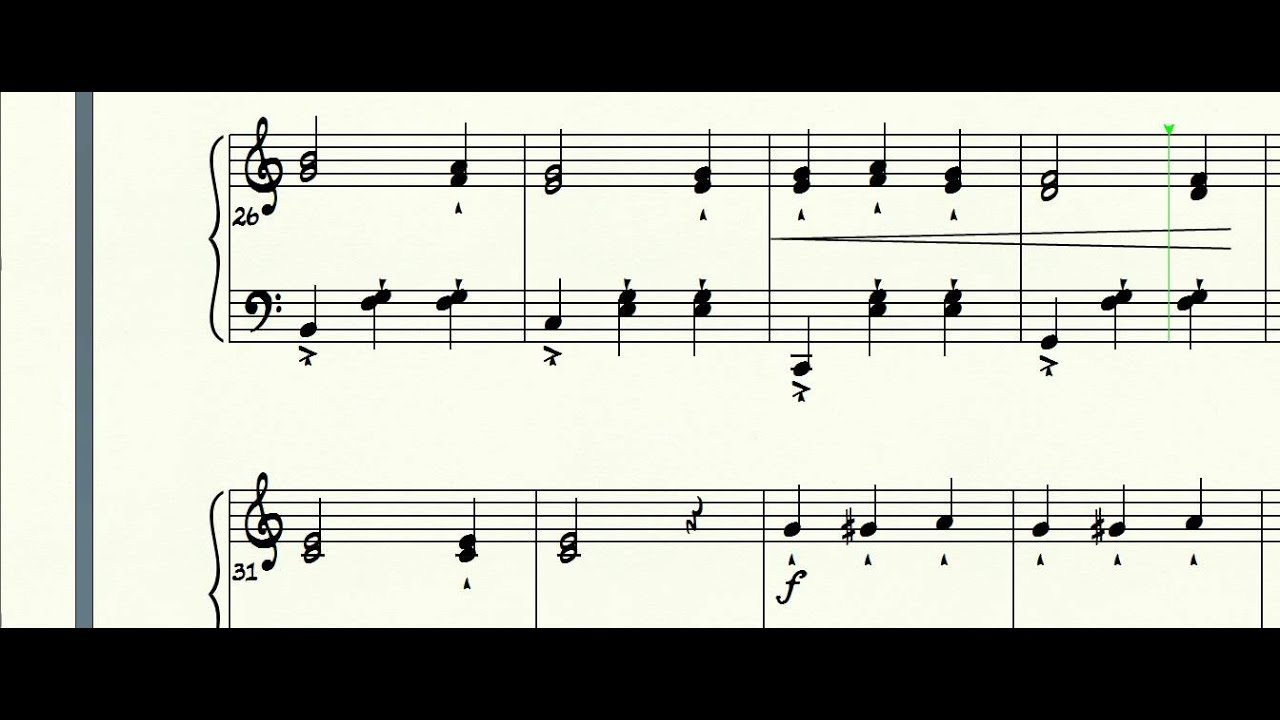 Chopsticks EASY piano SHEET MUSIC - YouTube