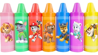 Giant crayon surprises with paw patrol toys