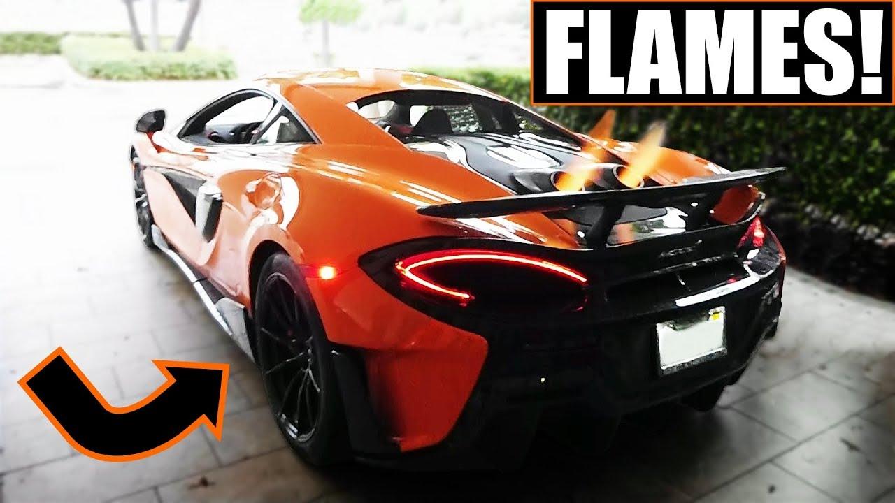 mclaren 600lt exhaust flames