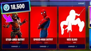 HUGE MARVEL SHOP SPENDING SPREE in Fortnite Avengers End Game!