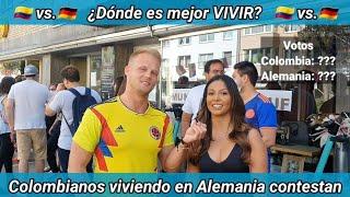 ¿Dónde es mejor VIVIR? Alemania 🇩🇪 vs Colombia 🇨🇴 - Entrevistando a Colombianos viviendo en Alemania